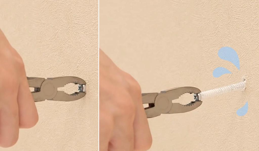 石膏ボードにねじ止めしてもしっかり止まらず危険です!