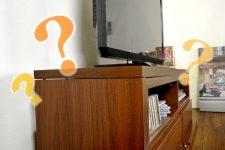 壁掛けテレビにテレビ台は不要?壁掛けとテレビ台の共存を考える。