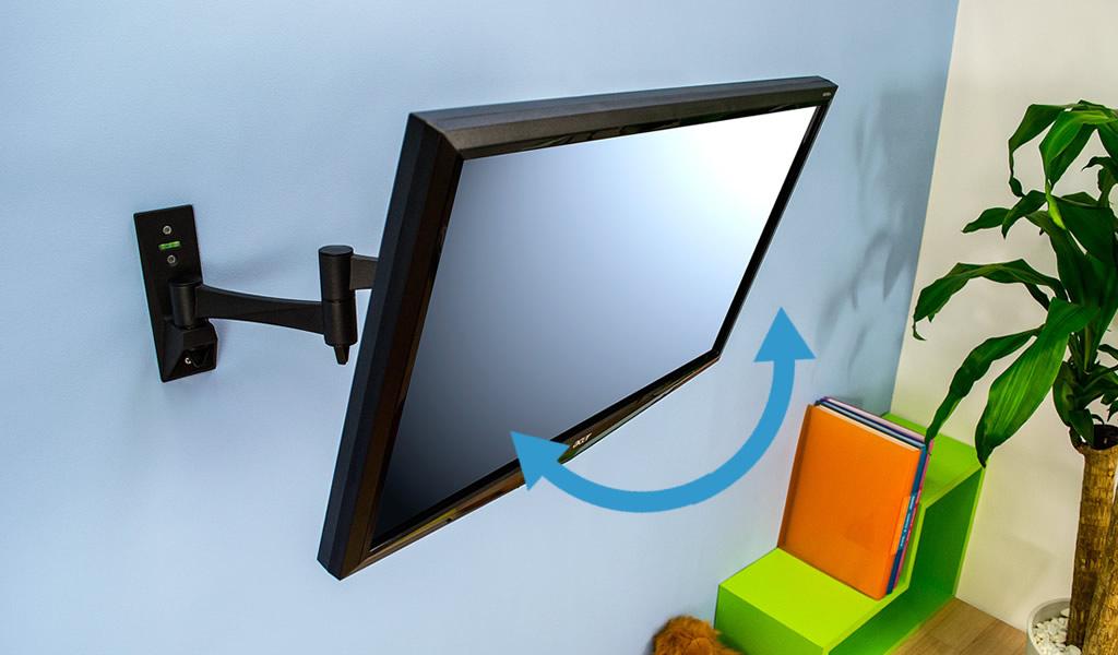 テレビを横に向けて首振りテレビ金具