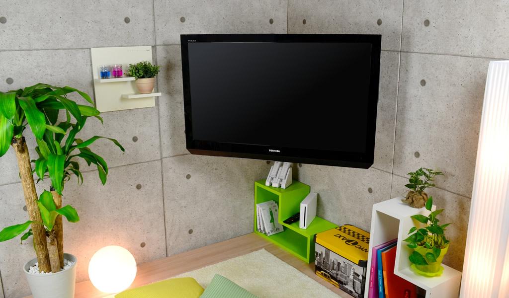 お部屋のデッドスペースを生かすコーナー設置金具